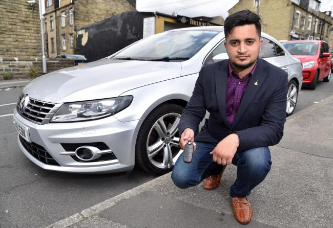 Haseeb Arslan's family have been left shaken and terrified after thieves used a device to break into his car while it was parked on his drive