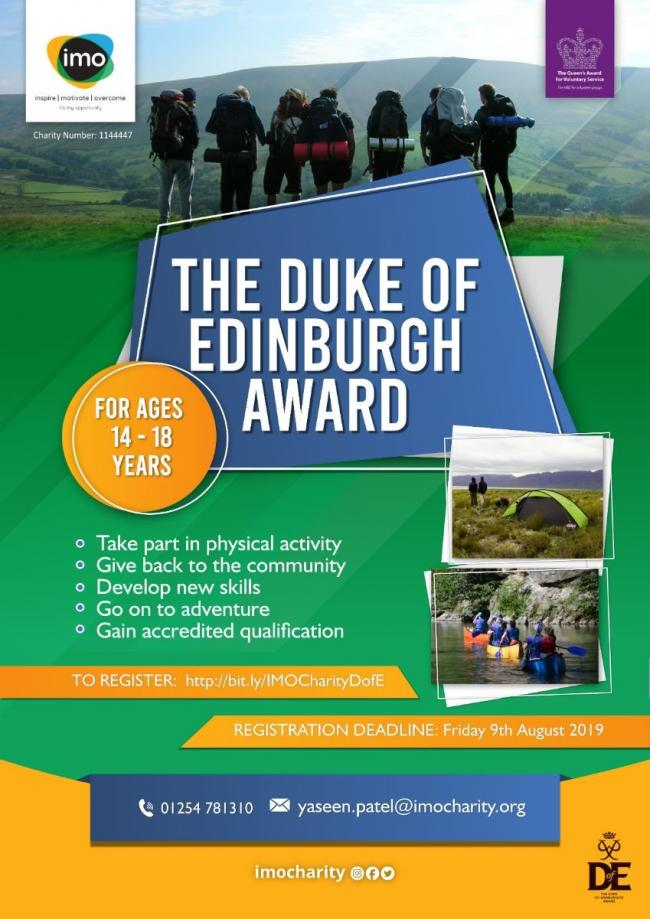 Sing up for The Duke of Edinburgh Award with IMO