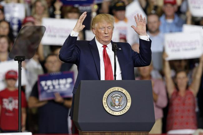 At the rally Trump rounded on the four by name, criticising Alexandria Ocasio-Cortez, Ms Omar, Ayanna Pressley and Rashida Tlaib.
