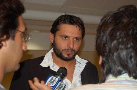 Pakistan Captain Yunus Khan and all-rounder Shahid Afridi led a series of Islamic Relief Charity events across the UK. Pictures are from the Manchester dinner held at Old Trafford Football Ground on August 19 2009.