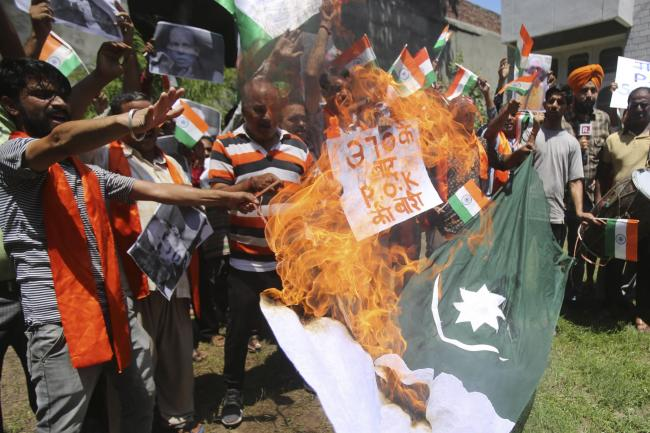 Protesters in Jammu