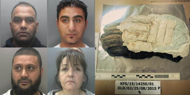 Three sentenced for importing £2 49m worth of heroin from Pakistan