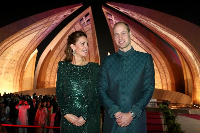 The Duke and Duchess of Cambridge attend a reception hosted by the British High Commissioner to Pakistan