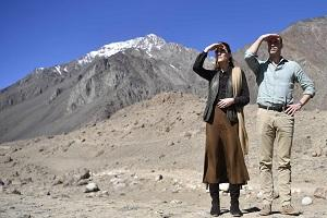Duke and Duchess of Cambridge visit the Chiatibo glacier in the Hindu Kush mountain range in the Chitral District of Khyber-Pakhunkwa Province in Pakistan. PA. Neil Hall/PA
