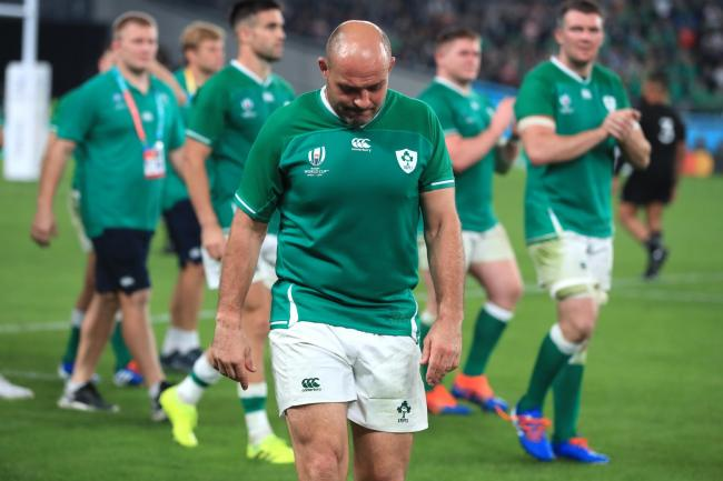 Ireland's Rory Best appears dejected after the defeat