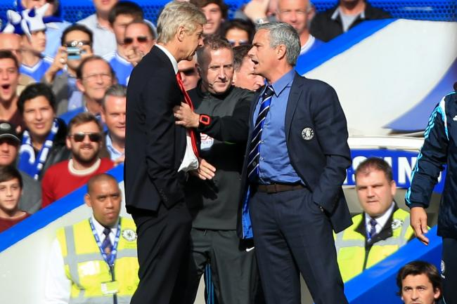 Jose Mourinho (right) was only one manager who feuded with Arsene Wenger during his time in charge of Arsenal.