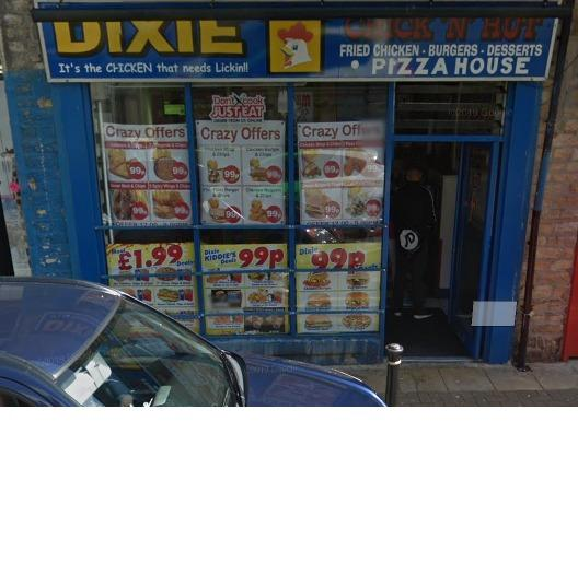 Dixie takeaway in Accrington