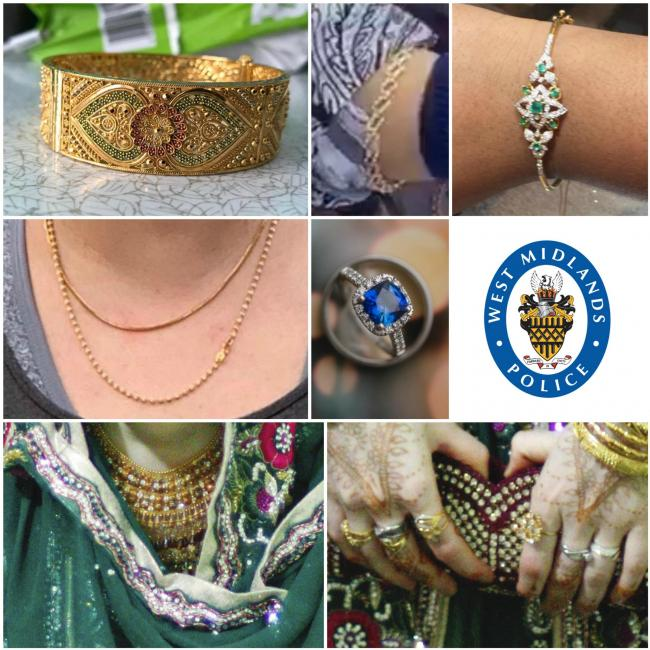 Some of the jewellery that was stolen