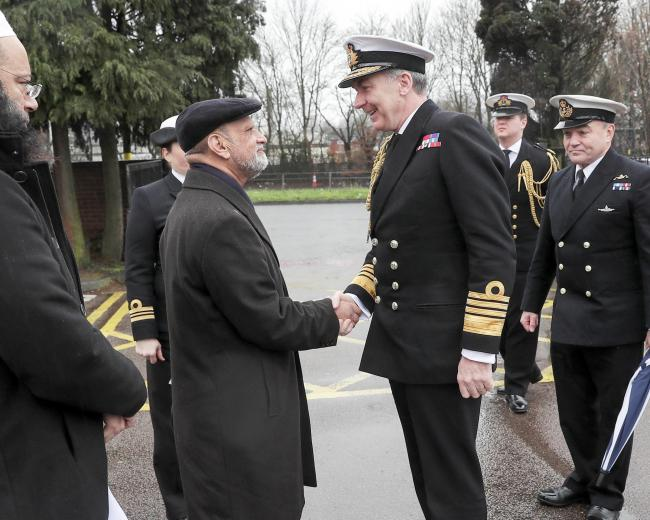 Royal Navy Admiral attends Birmingham's Central Mosque