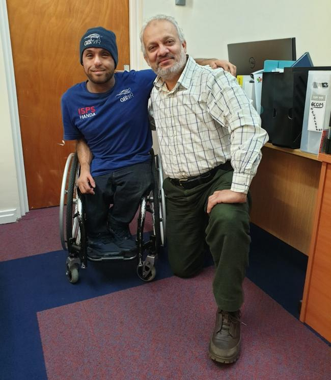 Olympic wheelchair Rugby player visits Council of Mosques