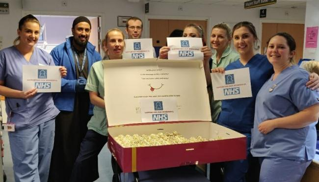 Charity and Cake Box deliver fresh cream cake slices to NHS staff