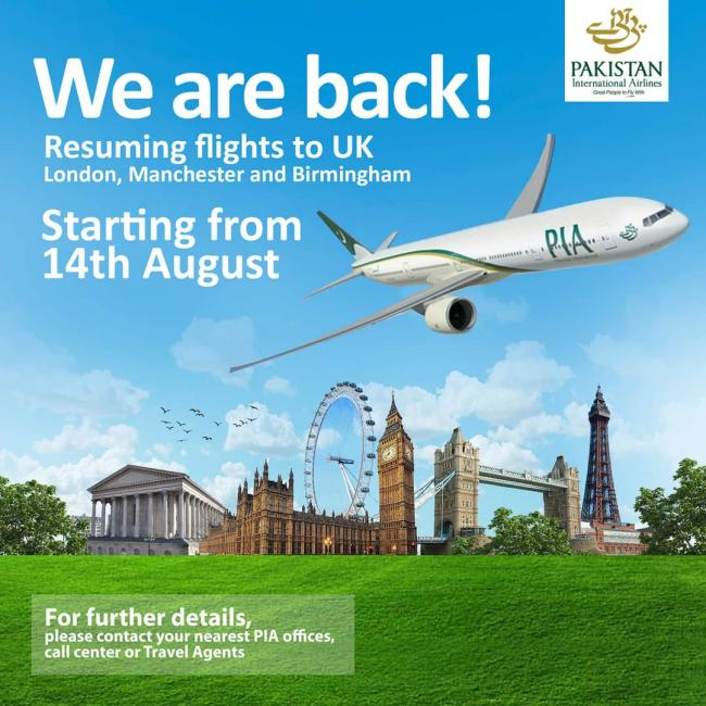PIA to resume flight to UK destinations