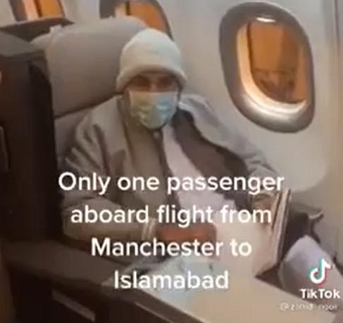 'Only one passenger on Manchester to Islamabad flight'