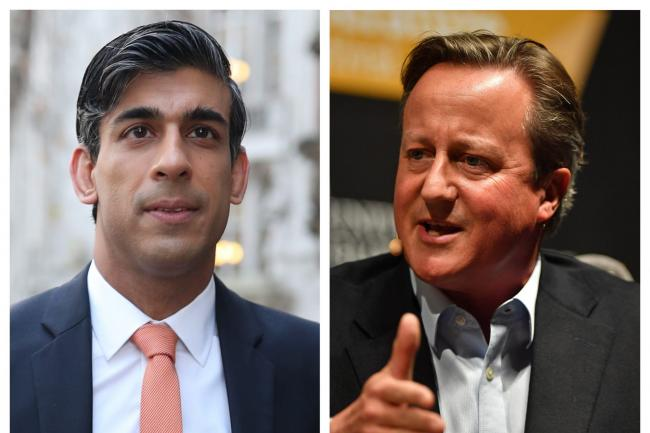 Rishi Sunak and David Cameron