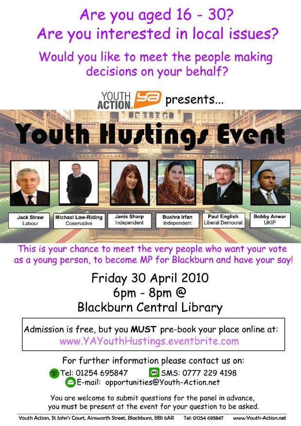 Youth Action Question time event