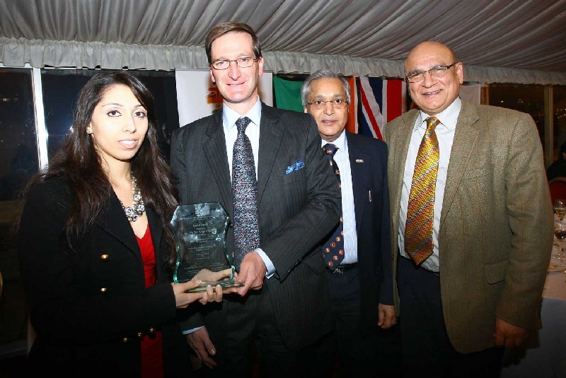 Natasha Mudhar of Sterling MEdia is pictured with the Rt Hon Dominic Grieve QC MP, Dr Rami Ranger, Mr.Ahmad Shahzad