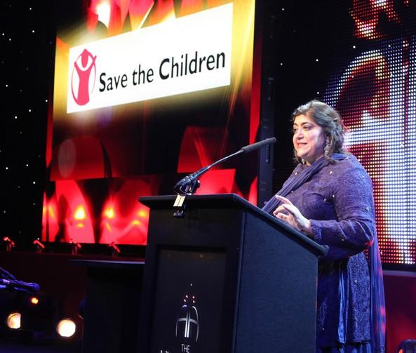 Gurinder Chadha OBE speaking at the event