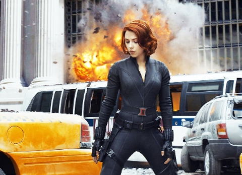 EXPLOSIVE Scarlett Johansson as the Black Widow