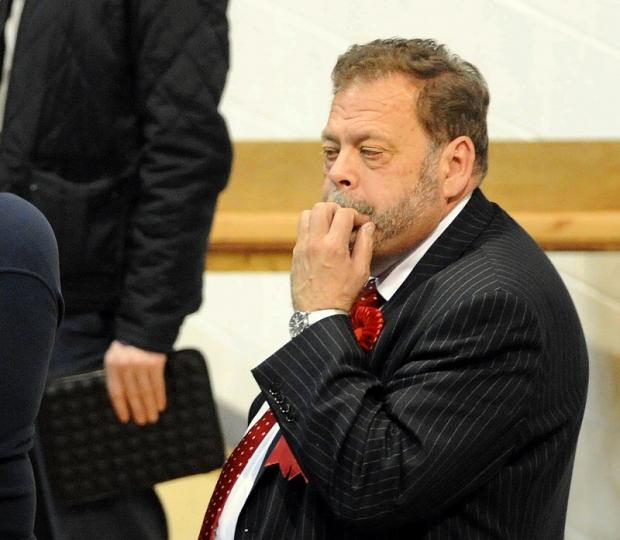 Ian Greenwood at the Bradford Council election count at the Richard Dunn Sports Centre