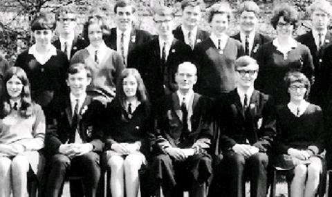END OF AN ERA Pupils from 1969 at the then Billinge Grammar School