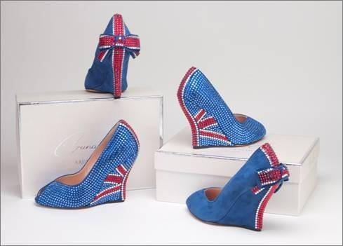 Aruna unveils Jubilee shoes