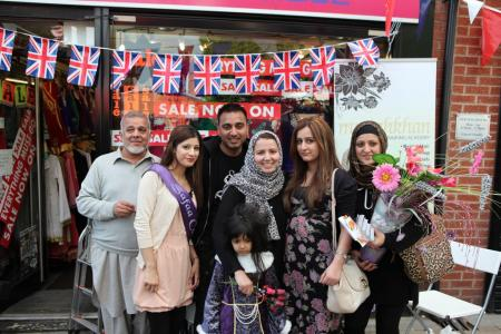 Queen's Diamond Jubilee Street Party, Victoria Street Blackburn. Monday June 4 2012. Organised by Shear Brow Community Association and One Voice. Supported by Whalley Range Bazaar. Pictures by Nasir Hussain