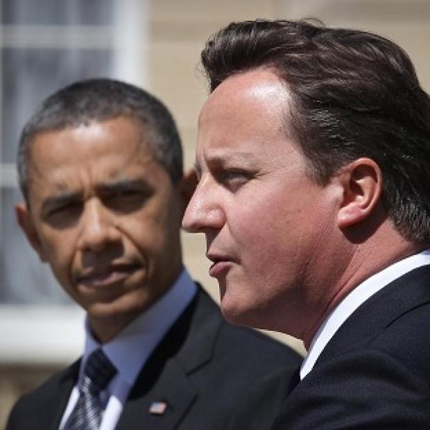 David Cameron and US president Barack Obama discussed the eurozone crisis with key allies