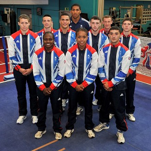 Anthony Joshua (back, centre) is feeling confident about Team GB's chances at the Olympics
