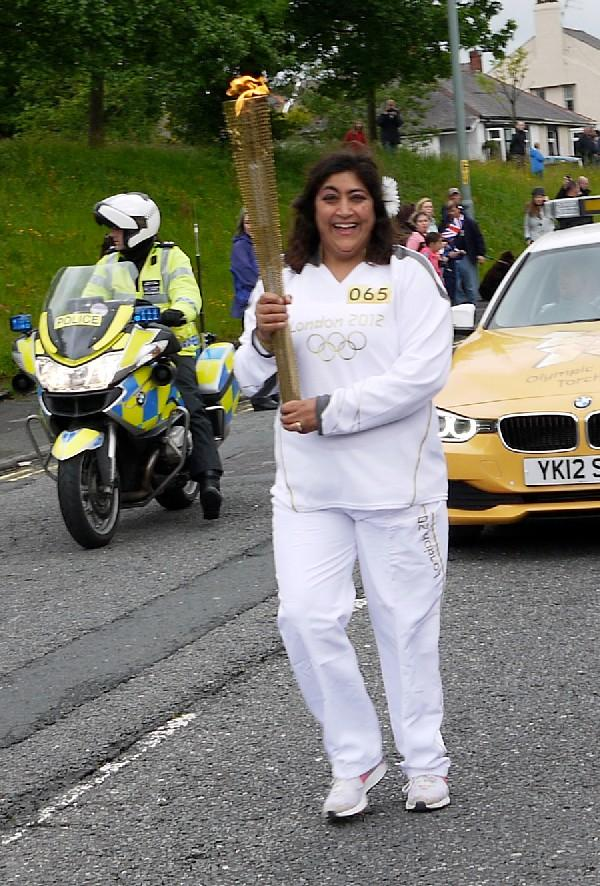 Gurinder Chadha proud to carry Olympic torch
