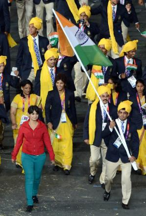 Woman spotted walking with Indian athletes 'sorry'
