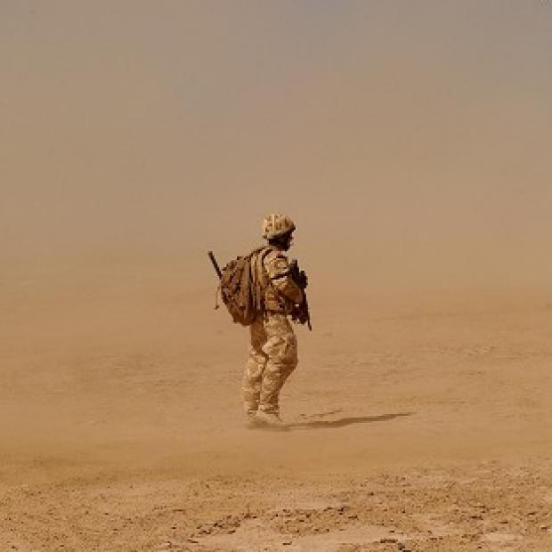 A British soldier has been killed on patrol in the Nad-e-Ali district of Helmand, Afghanistan