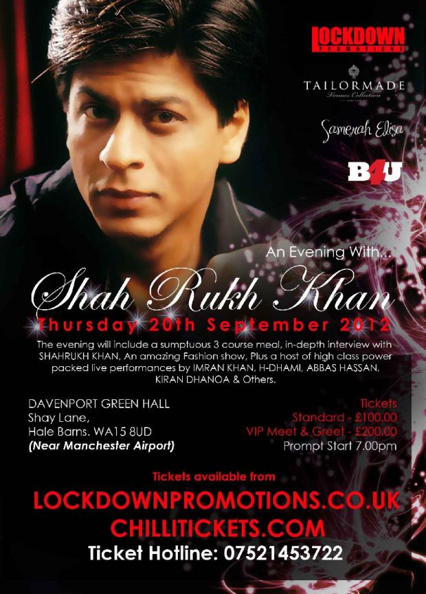 LIVE: An Evening with Shahrukh Khan