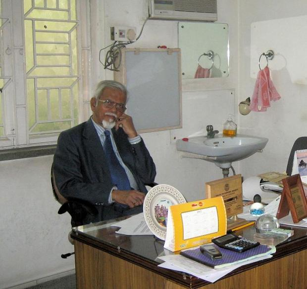 Dr Brahma in his Calcutta office