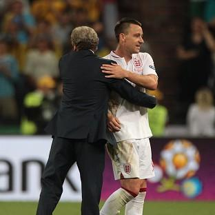Roy Hodgson, left, thanked John Terry for his service to the national team