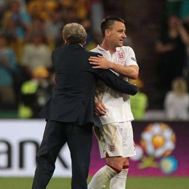 Asian Image: Roy Hodgson, left, thanked John Terry for his service to the national team