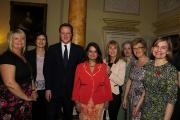 Ranu Mehta-Radia (fourth from left) with Prime Minister David Cameron and fellow mums of the year Diana Golding, Jane Plumb, Maggie Hughes, Pamela Clark, Lynn McManus and Laura Young
