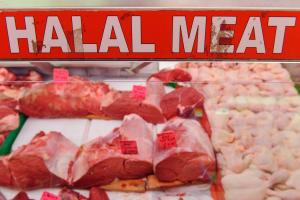 So, a new halal restaurant is opening...you can guess what happens next