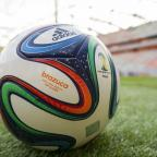 Asian Image: File photo dated 10/12/2013 of Detail of the Official FIFA match ball, the brazuca. PRESS ASSOCIATION Photo. Issue date: Thursday May 29, 2014. From samba stars to sunshine football, whole shanty towns of cliches have clung to the 2014 World Cup finals si