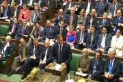 Prime Minister David Cameron speaks n the House of Commons