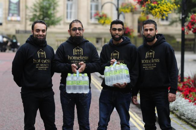 When 18,000 homes had their water supply cut — these four young men took it upon themselves to deliver 1,500 bottles of water to elderly residents