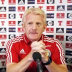 Asian Image: Gordon Strachan was not a happy man heading into Scotland's meeting with Gibraltar