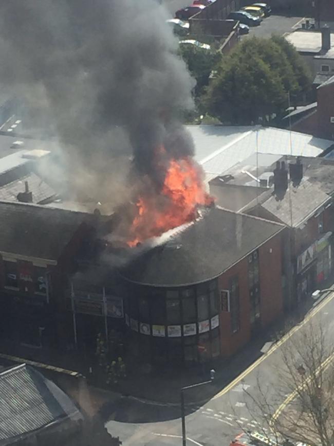Major Fire At Preston City Centre Takeaway Asian Image