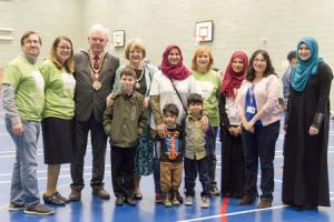 Muslim and Jewish adults and children joined to help those in need on Sadaqa Day