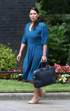Asian Image: International Development Secretary Priti Patel arriving at 10 Downing Street in London for a Cabinet meeting.