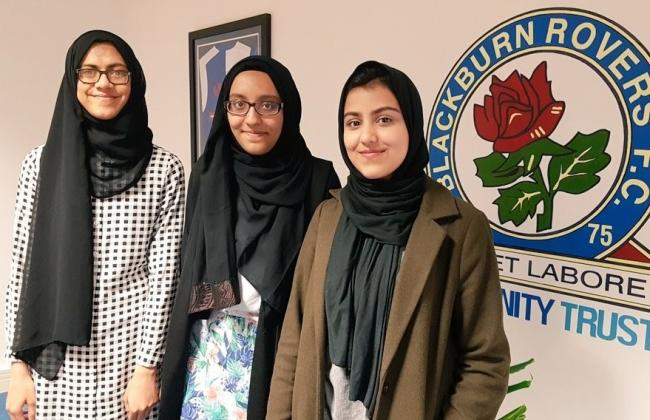 TIGHS pupils Aisha, Maryam and Hafsa spent time on work experience placements at Blackburn Rovers Community Trust as part of their Mini MBA programmes
