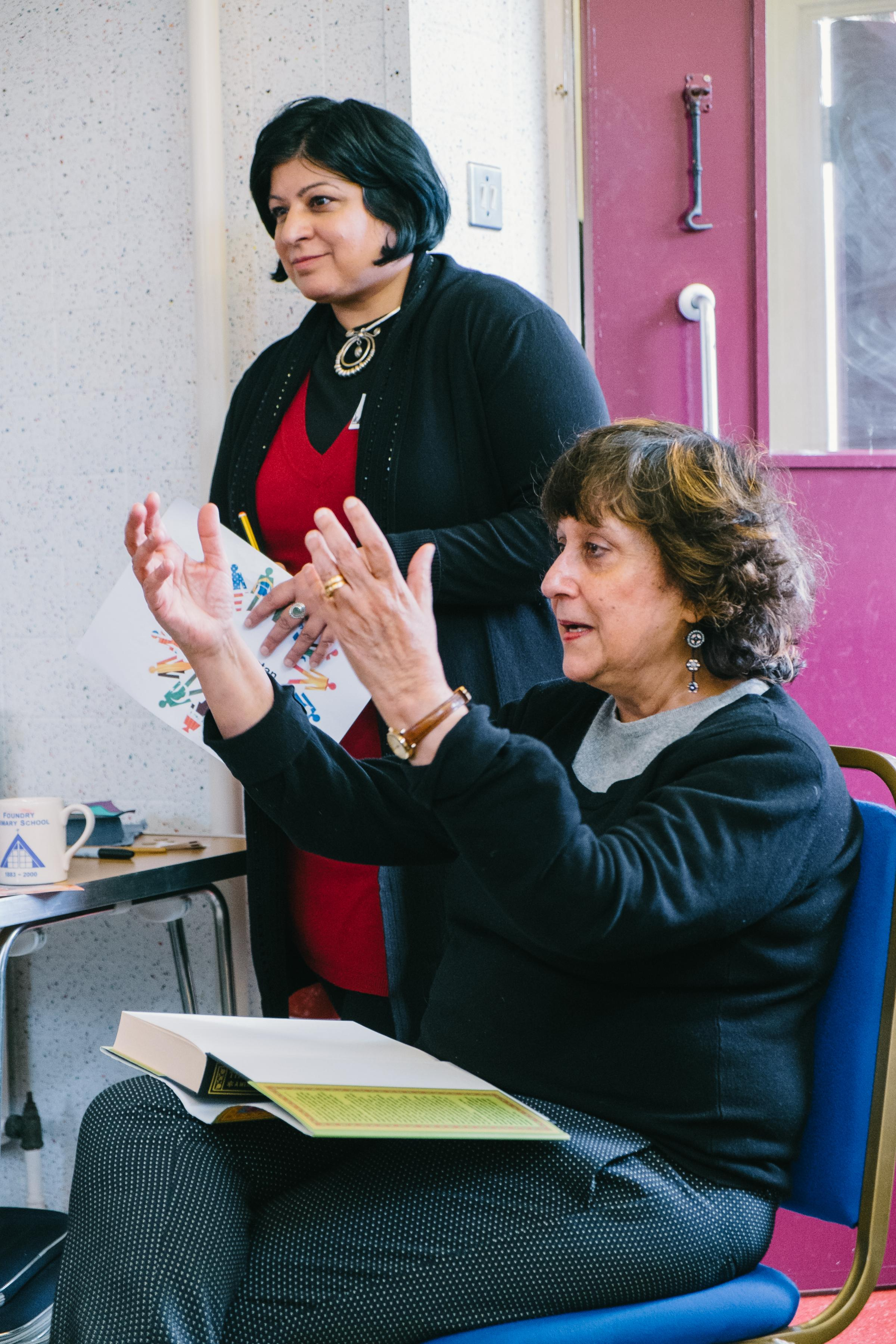 Yasmin Alibhai-Brown with Salma Zulfiqar