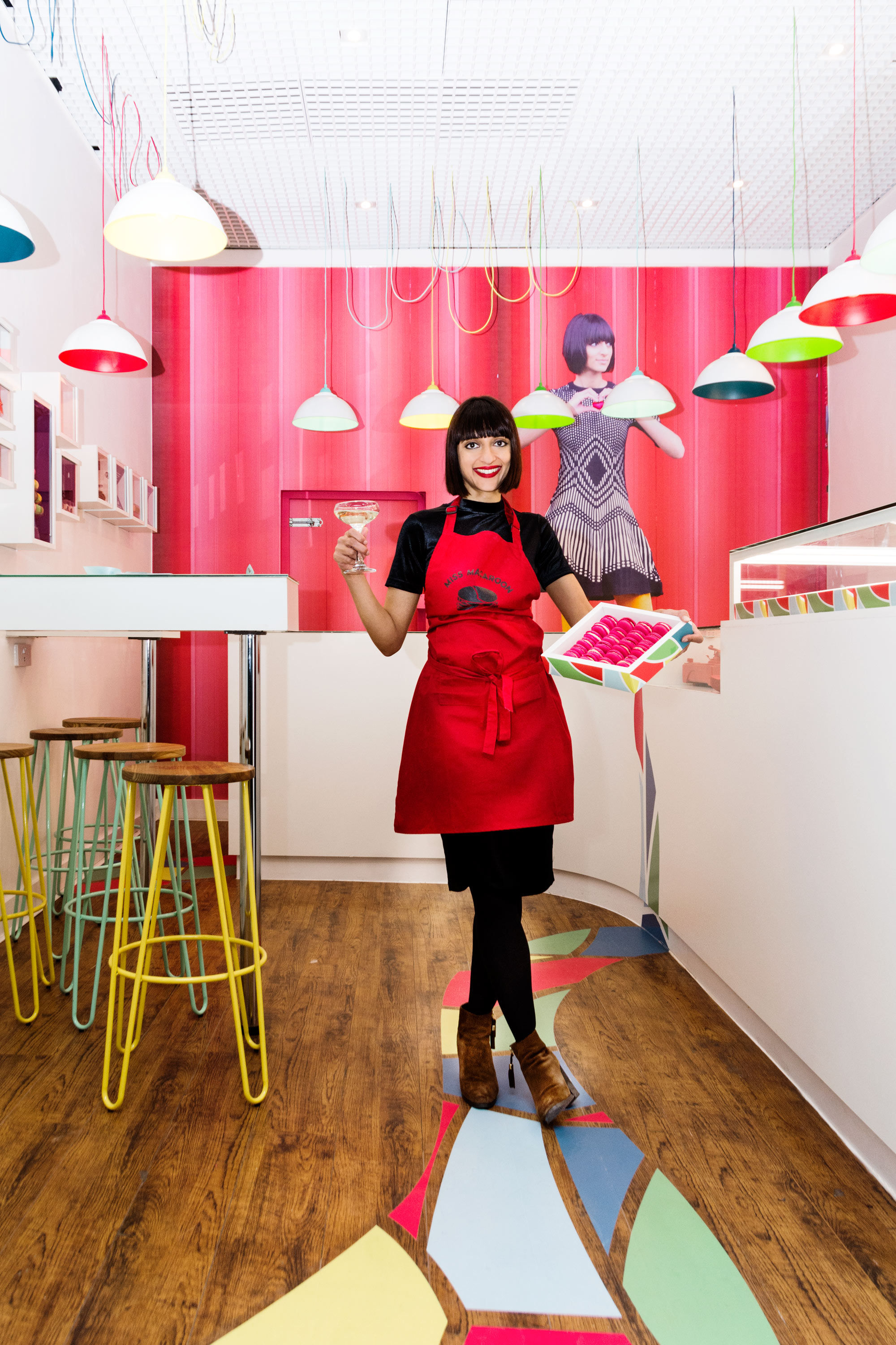 Entrepreneur Rosie Ginday, 34, who set up the social enterprise and baking business Miss Macaroon.
