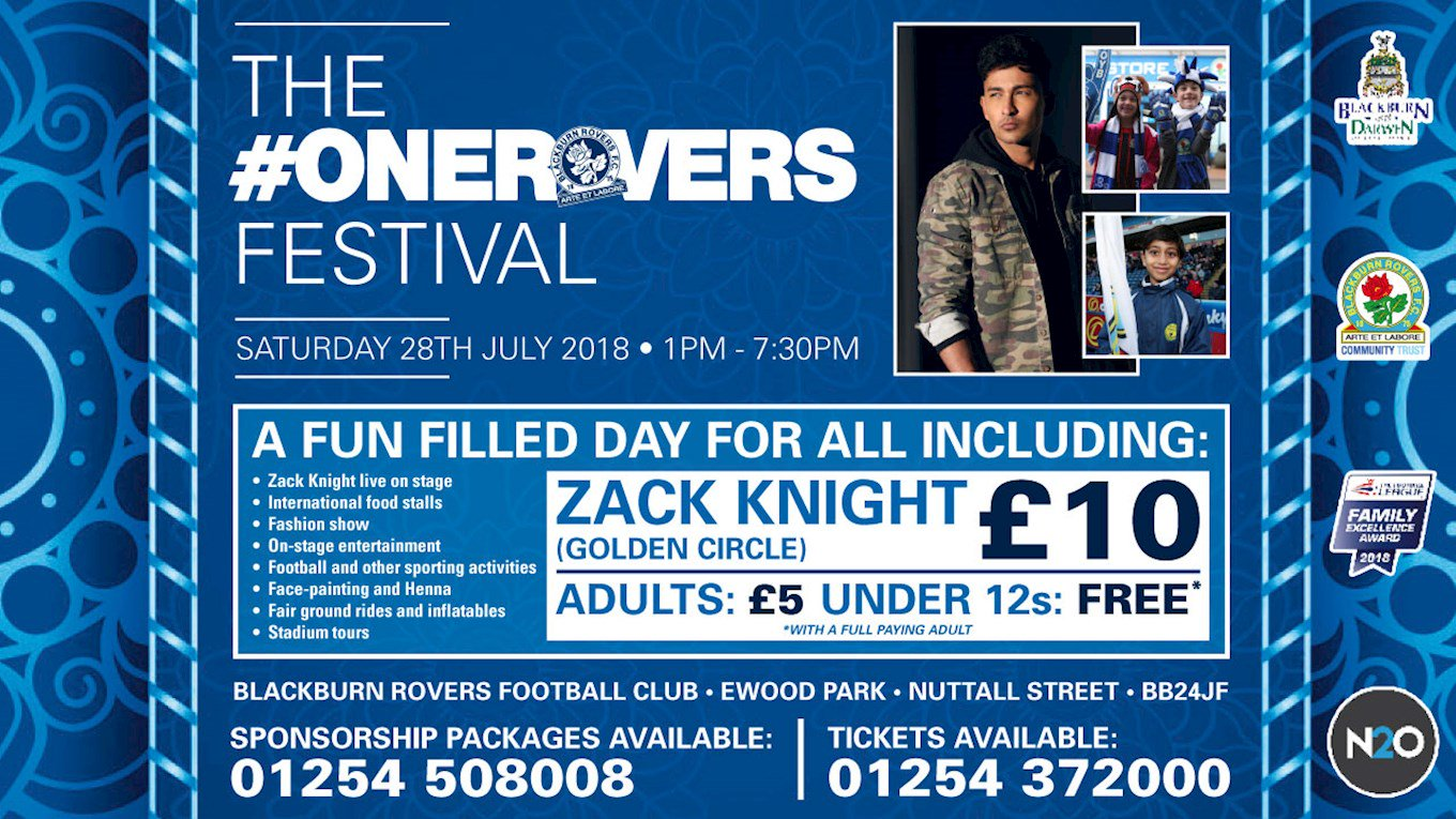 Zack Knight to perform at #OneRovers Family Festival