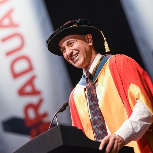 WATCH: Musician Aziz Ibrahim honoured by University of Salford