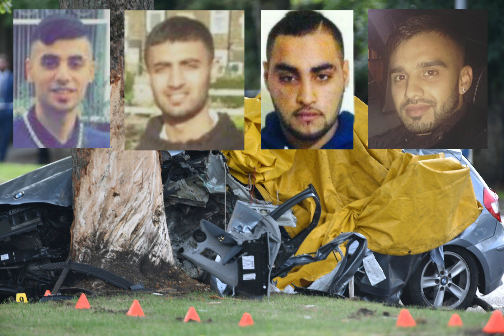 Murza Chaudry, Zeeshan Khalid, Arbaaz Hussain and Tayyab Siddique were all killed in the crash in Toller Lane, Bradford on August 2